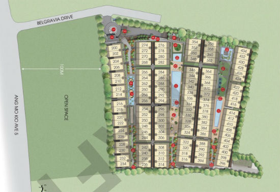 belgravia villas site map