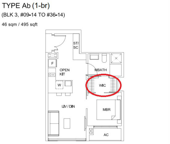 Sky vue offers rare walk in wardrobe for all units What is wic in a floor plan