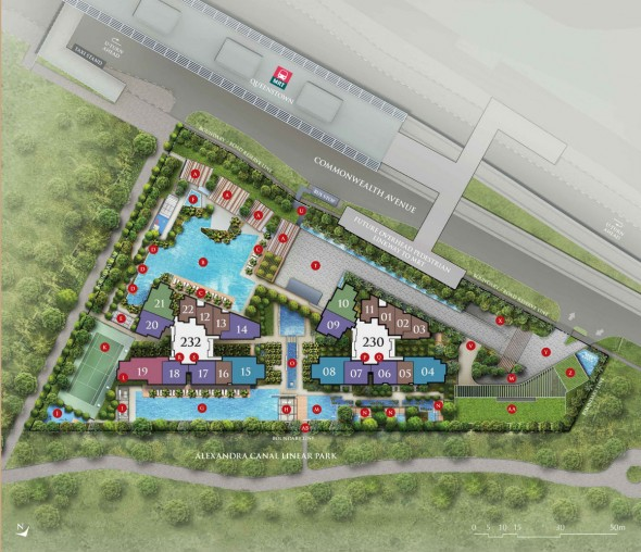 commonwealth_towers_queenstown_mrt_condo_site_plan