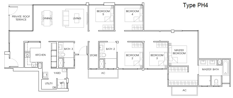 Floor plans shows functional layout at the vales ec for Functional floor plans